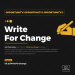 "SALT TALKS AFRICA LAUNCHES THE ""WRITE FOR CHANGE"" INITIATIVE"