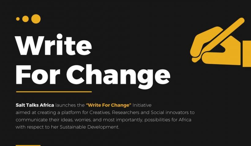 SALT TALKS AFRICA LAUNCHES THE WRITE FOR CHANGE INITIATIVE